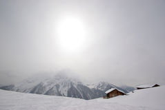 Winter scene Mayrhofen Austria Royalty Free Stock Photos