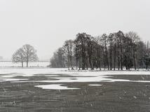 Winter Scene, Melbourne, Derbyshire Royalty Free Stock Photos