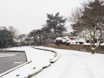 Winter Scene, Melbourne, Derbyshire Stock Images