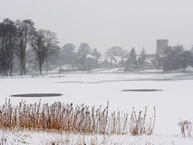 Winter Scene, Melbourne, Derbyshire Royalty Free Stock Images
