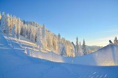 Winter scene on mountain Stock Photos