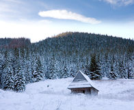 Winter scene in mountains Stock Photo