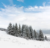 Winter scene in mountains Royalty Free Stock Photos