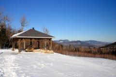 Winter scene in New England, USA Stock Photo