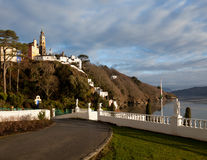 Winter scene at Portmeirion in Wales Stock Photography