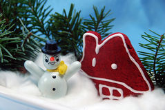 Winter scene in a pot Stock Photography