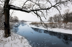 Winter scene on river Stock Images