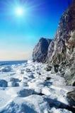 Winter Scene At The Sea Stock Photo