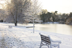 Winter scene - St Albans. A tranquil winter scene following a overnight snowfall in St Albans, Hertfordshire, England Stock Photography