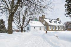 Winter Scene Thomas-Brunet House Stock Images