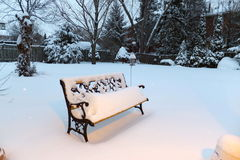 Winter scene. Winter time in Southern Ontario, Canada Stock Image
