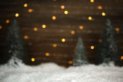 Winter scene with trees and snow. Background Royalty Free Stock Image