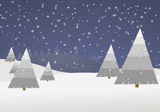 Winter scene vector Royalty Free Stock Photography