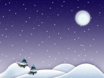 Winter scenery. Winter snowy scenery on Christmas Royalty Free Stock Images