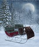 Winter scenery 12 vector illustration