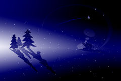 Winter scenery. Cold winter scenery (Christmas atmosphere Stock Images