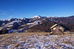 Winter scenery. Early winter in mountains of Velka Fatra, Slovakia Royalty Free Stock Images