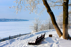 Winter scenery stock images