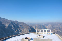 Winter scenery. The winter scenery of mountains in Yixiantian Scenic Area in Taiyuan, Shanxi, China Stock Image