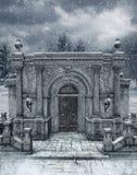 Winter scenery 6 royalty free illustration