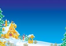 Winter scenery stock illustration