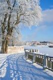 Winter scenery, alley stock photos