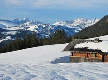 Winter Scenery In The Bernese Oberland Royalty Free Stock Photo
