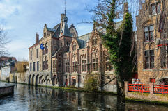 Winter scenery in Bruges, Belgium Royalty Free Stock Photo