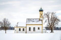 Winter scenery church Stock Photos