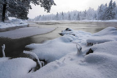 Winter scenery from Finnish nature Royalty Free Stock Photography