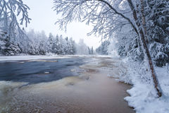 Winter scenery from Finnish nature Royalty Free Stock Photo