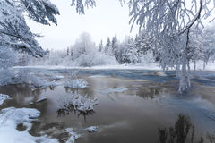 Winter scenery from Finnish nature Stock Photo
