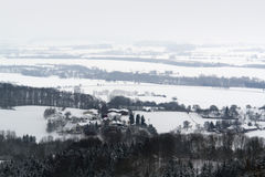 Winter scenery in Hohenlohe Royalty Free Stock Image