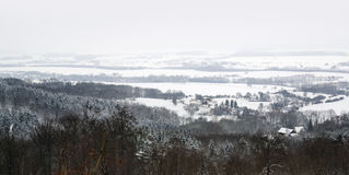 Winter scenery in Hohenlohe Stock Photos