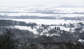 Winter scenery in Hohenlohe Royalty Free Stock Photo