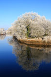 Winter scenery of Limerick. City park with reflection Royalty Free Stock Photography