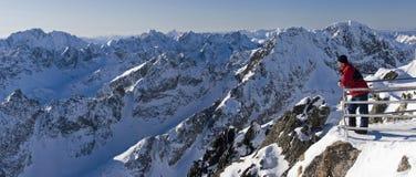 Winter scenery of Vysoke Tatry , Slovakia Stock Images