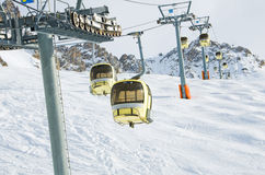 Winter scenery, Meribel, France Stock Photography