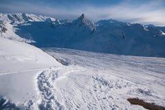 Winter scenery, Meribel, France Royalty Free Stock Image