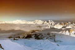 Winter scenery, Meribel, France Royalty Free Stock Photography