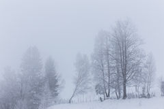 Winter scenery in the mountains Royalty Free Stock Images