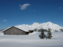 Winter scenery near Gstaad Stock Image