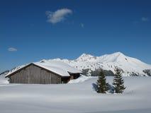 Winter scenery near Gstaad Stock Image