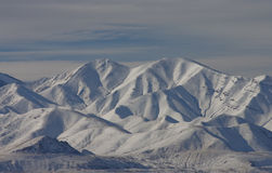 Winter Scenery in the Oquirrh Mountains Stock Photo