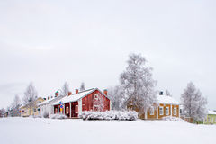 Winter scenery from Oulu Finland Royalty Free Stock Images