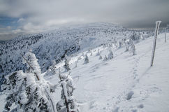 Winter scenery in polish mountains Stock Photo