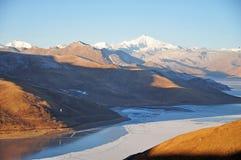 Winter Scenery in Qinghai-Tibet Plateau Royalty Free Stock Photo