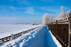 Winter  scenery  on river Stock Photography