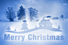 Winter scenery snow spray Merry Christmas Royalty Free Stock Photography