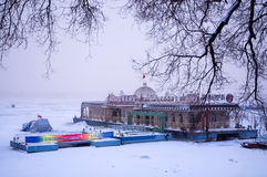 Winter scenery in Songhua River Royalty Free Stock Photo